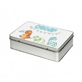Aluminium Rectangle Tin - With printable metal insert